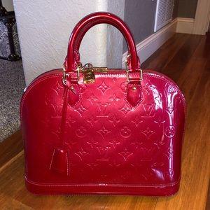 Louis Vuitton Alma PM Platinum Red leather